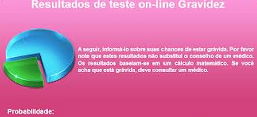 teste gravidez online