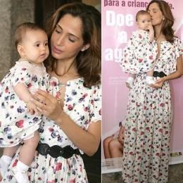 Camila Pitanga e filha campanha de doação de leite