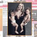 atriz Jenna Jamesson e os filhos gêmeos