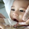higiêne bucal em bebê