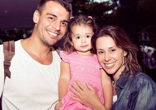 Dani Monteiro marido e filha